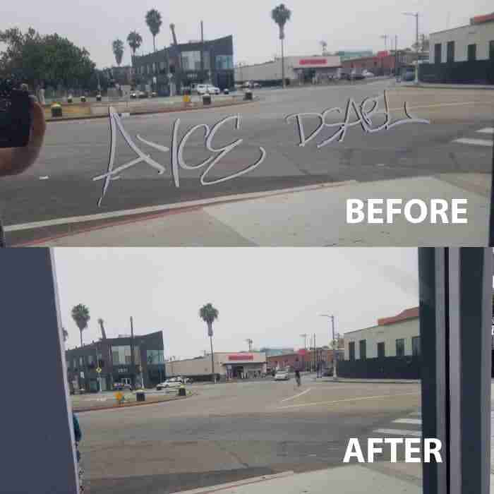 storefront graffiti removal