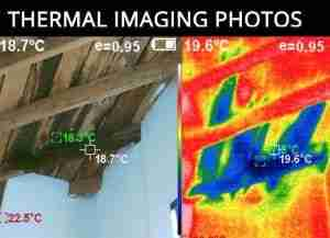 leak detection via thermal imaging photos