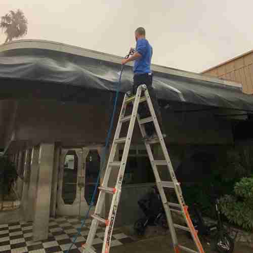 RayAccess Awning Cleaning for local Restaurant