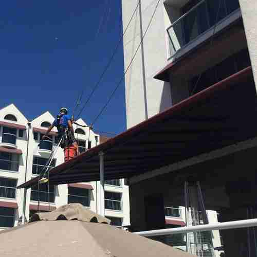 RayAccess Awning Cleaning at Santa Monica Loews Hotel