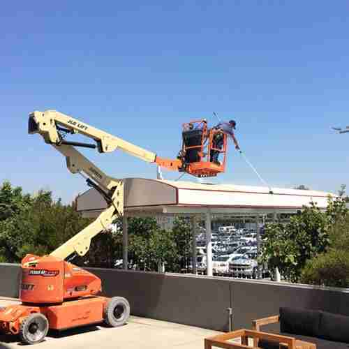awning cleaning at LA Forum