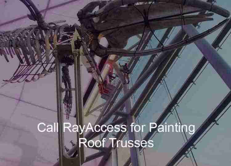 painting roof trusses