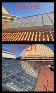 Before & After Results, Skylight Cleaning